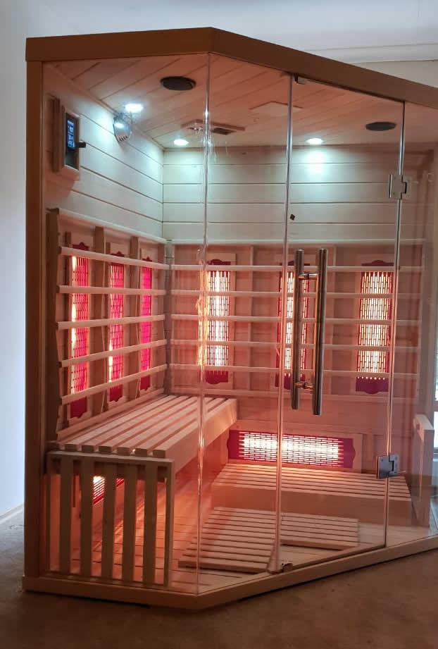 4 person corner infrared sauna